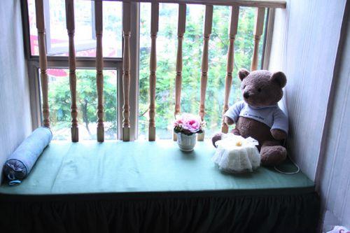 田園風格二居室臥室飄窗裝修效果圖大全