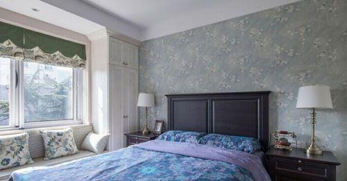田园风格二居室卧室背景墙装修效果图大全