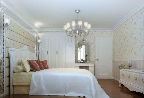 田园风格二居室卧室吊顶装修图片