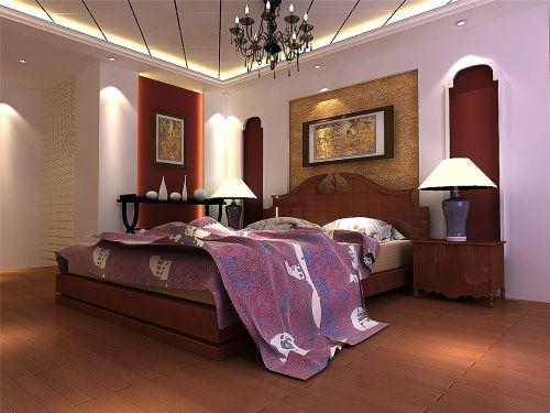 田园风格四居室卧室装修图片欣赏