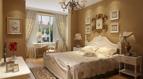 田园风格三居室卧室吊顶装修效果图欣赏