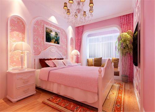 田园风格二居室卧室壁纸装修图片