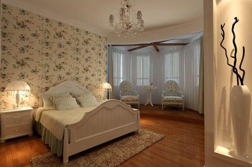 田园风格三居室卧室装修效果图大全