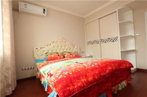田园风格三居室卧室灯具装修效果图大全