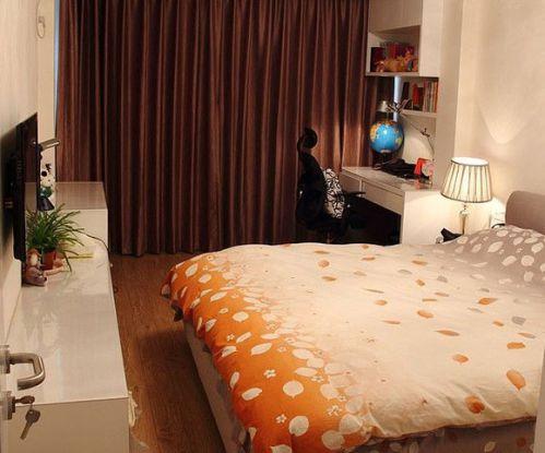 田园风格一居室卧室飘窗装修效果图大全