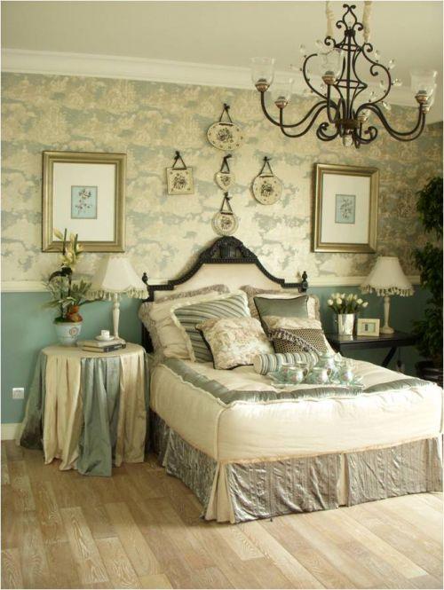欧式田园五居室卧室装修效果图欣赏