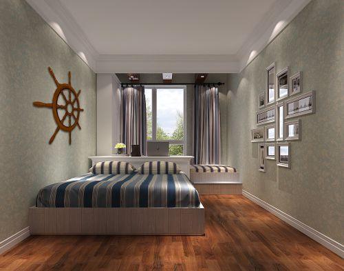 田园风格三居室卧室装修图片欣赏