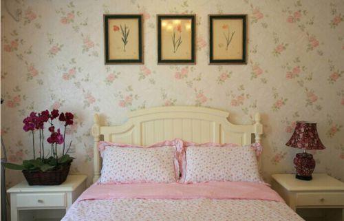 甜美雅致田园风格卧室家装设计效果图