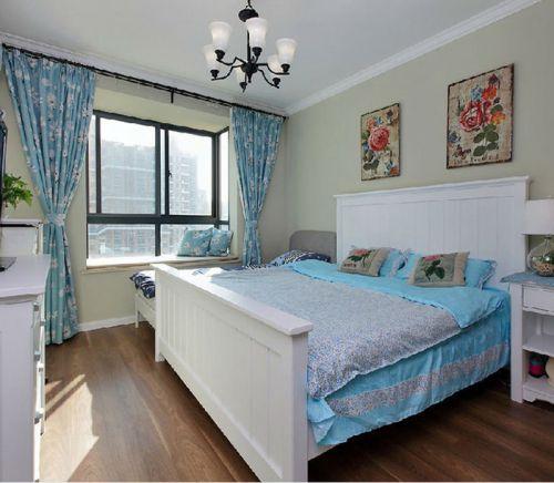 地中海風格三居室臥室飄窗裝修效果圖大全