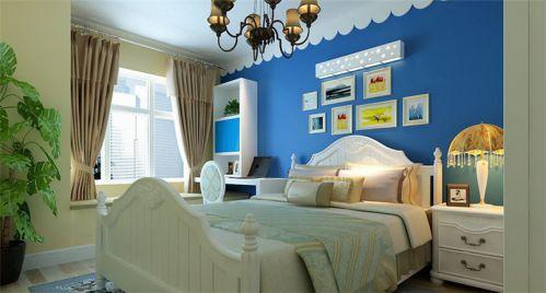 地中海风格二居室卧室照片墙装修效果图大全