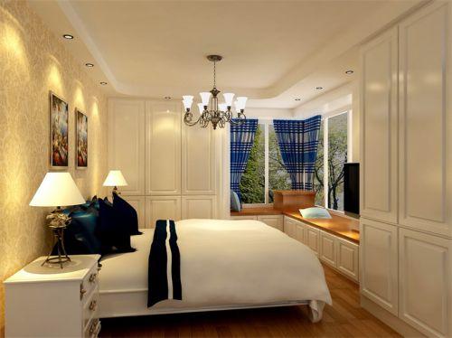 地中海风格二居室卧室照片墙装修图片