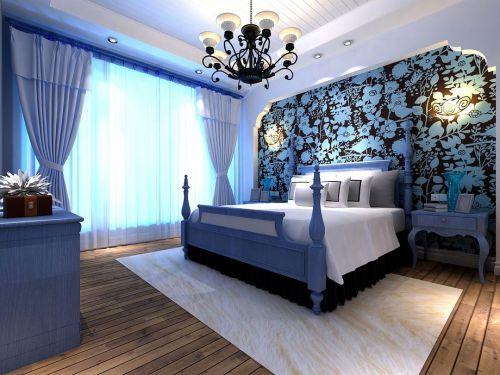 地中海风格三居室卧室梳妆台装修图片