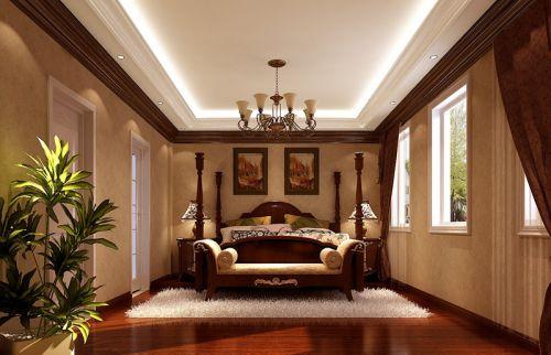 地中海风格五居室卧室床头柜装修效果图