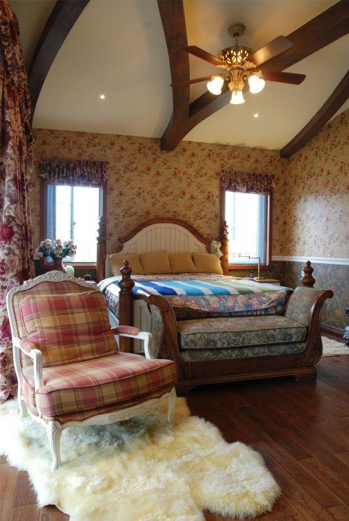 地中海风格六居室卧室背景墙装修效果图