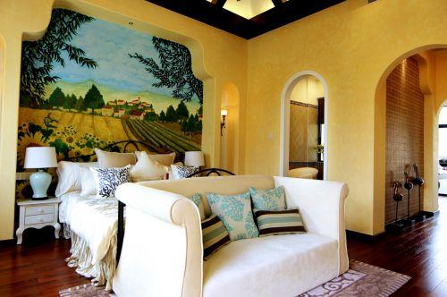 地中海风格五居室卧室吊顶装修效果图大全