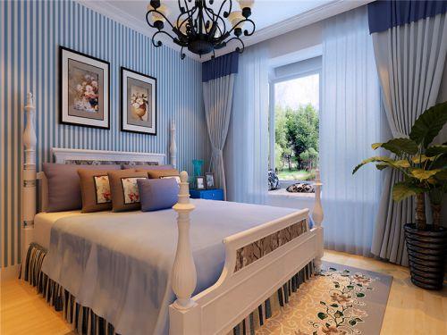 地中海风格二居室卧室榻榻米装修效果图大全