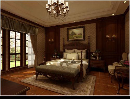 地中海风格四居室卧室储物柜梳妆台装修效果图欣赏