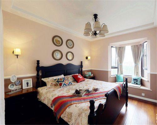 地中海风格二居室卧室床装修效果图欣赏