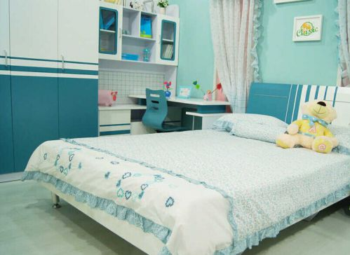 地中海风格二居室卧室楼梯装修效果图欣赏