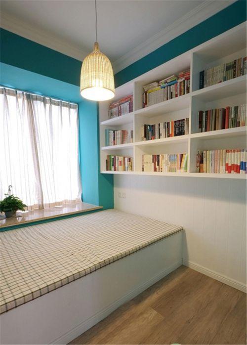 地中海風格二居室臥室飄窗裝修效果圖