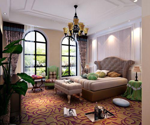 地中海风格四居室卧室床头柜装修效果图