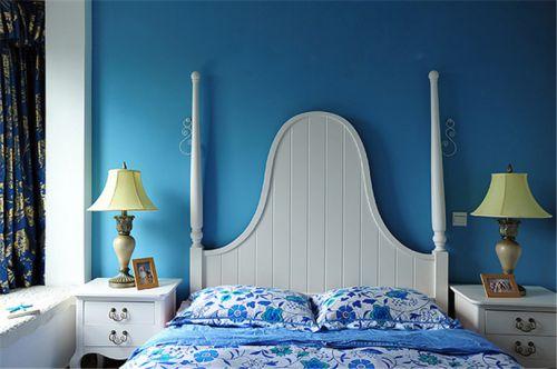 地中海风格二居室卧室照片墙装修效果图欣赏