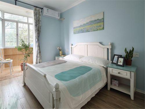 地中海风格二居室卧室背景墙装修效果图