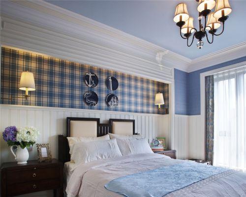 地中海风格四居室卧室灯具装修效果图大全