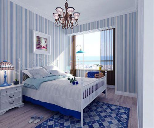 地中海风格三居室卧室床装修效果图欣赏