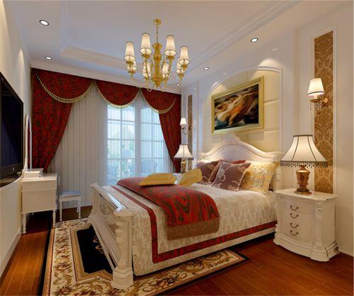 地中海风格二居室卧室床装修图片