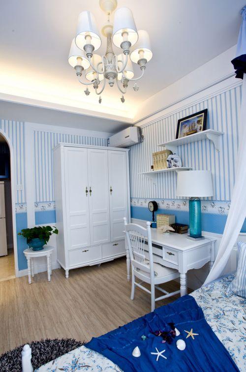 地中海风格三居室卧室婴儿床装修图片