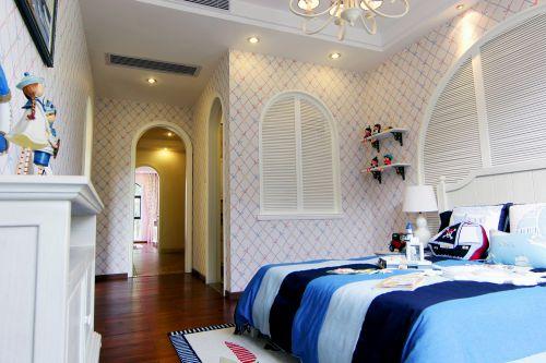 地中海风格四居室卧室壁纸装修效果图欣赏