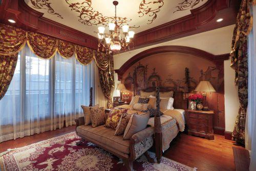 地中海风格四居室卧室床装修图片