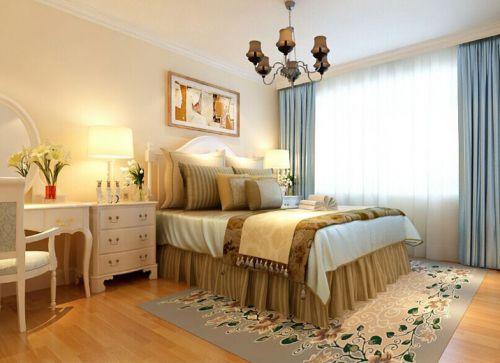 地中海风格三居室卧室装修效果图大全