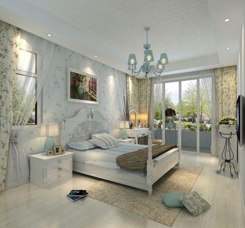 地中海风格四居室卧室装修图片