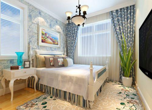 地中海风格三居室卧室装修图片