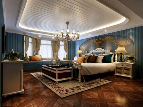 地中海风格三居室卧室梳妆台灯具装修效果图欣赏