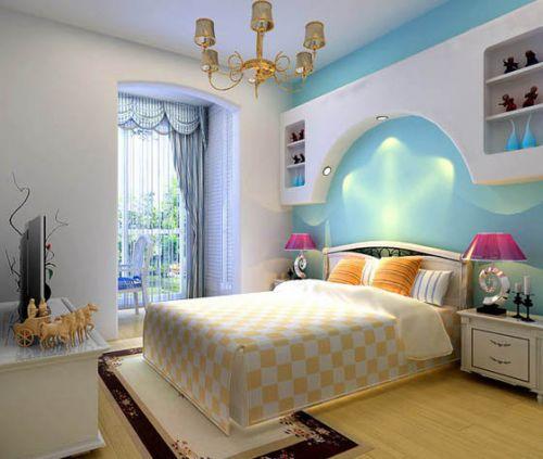 地中海风格二居室卧室装修图片