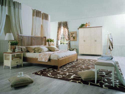 休闲浪漫地中海风格卧室效果图