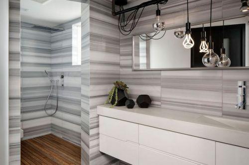 创意现代风格卫生间背景墙效果图