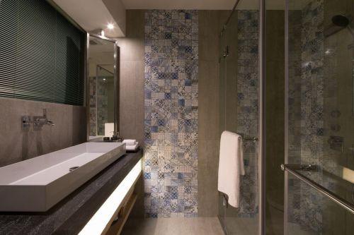 现代简约风小户型卫生间背景墙效果图