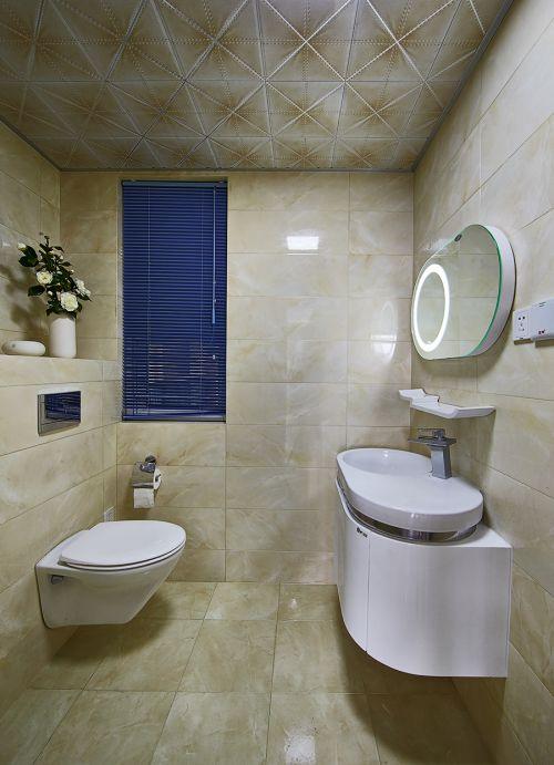 现代简约风格公寓卫生间吊顶装修效果图