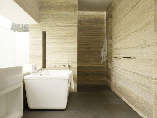 现代简约卫生间白色家具装修效果图