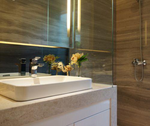 大气简约风卫生间方形台盆洗手台设计