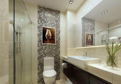 现代室内卫生间马赛克瓷砖背景墙效果图