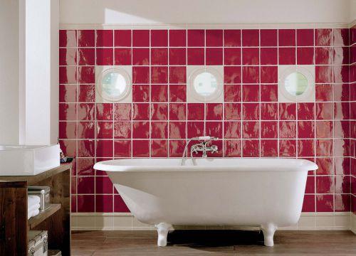 现代简约卫生间背景墙效果图