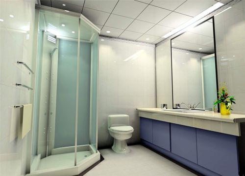 二居室现代简约卫生间淋浴间装修效果图