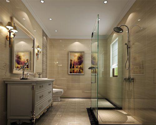 现代简约五居室卫生间背景墙装修效果图