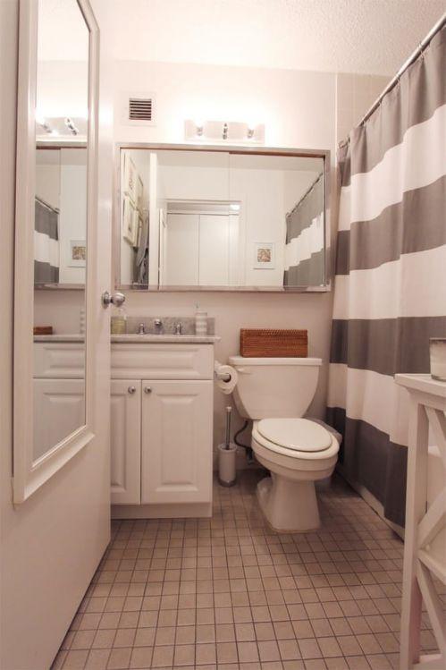 简洁大方现代风格小户型卫生间装修图
