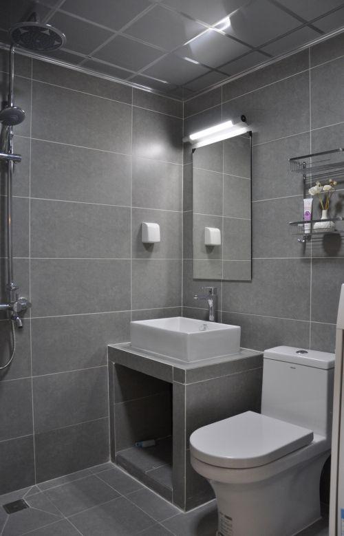 现代简约一居室卫生间装修效果图欣赏